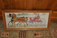 Vintage needlework picture