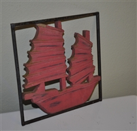 Handmade wooden ship picture