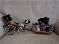 HOMCO wall plaque horse and buggy