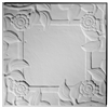 Spanish Rose Blank Center Plaster Ceiling Tile