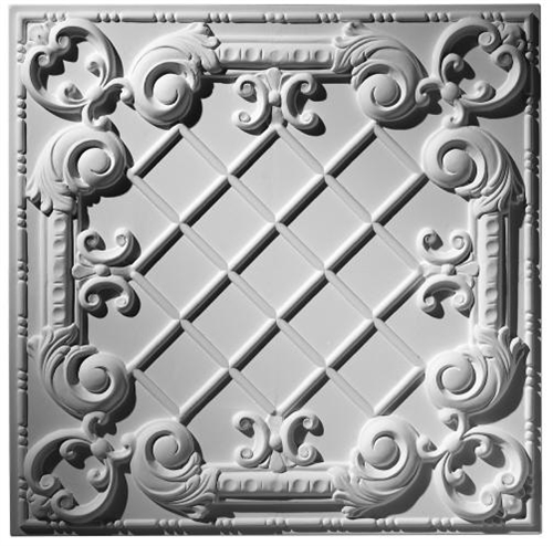 Baroque Panel Traditional Ceiling Tile