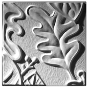 Retro Leaf Panel C Plaster Ceiling Tile