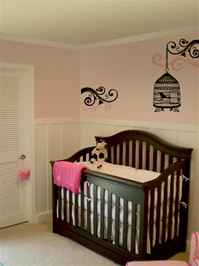 Birdcage wall decal sticker