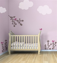 Birdie Buds wall decals stickers