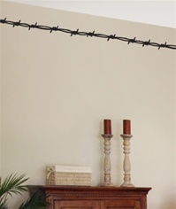 Barbed Wire western border wall decal sticker