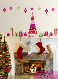 Candy Christmas Tree wall decals stickers