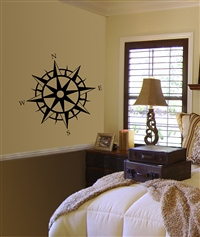 Compass Too wall decal sticker