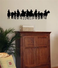 Cowboy Stand western wall decal sticker
