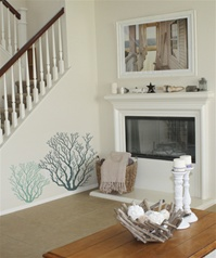 Coral wall decals stickers