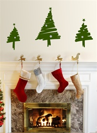 "Christmas Tree - ""Ink"" wall decal sticker"