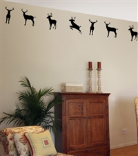 Deer Buck Border Wall Decals Stickers