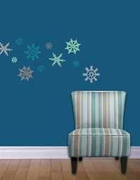 Funky Snowflake wall decals stickers