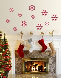 Frosty Snowflake wall decals stickers
