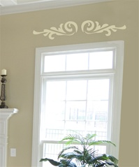 Door Header Swash Ornament wall decal sticker