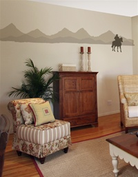 Mountain Range wall decal sticker