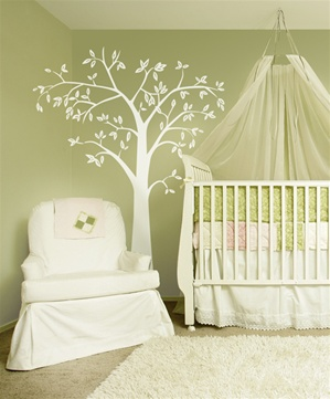Neu Leafy Tree 7 foot tall wall decal sticker