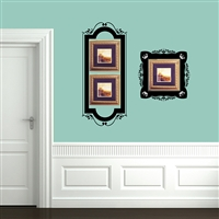 Ornamental Frame Wall Decal Sticker Set