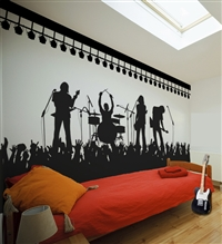 Rock Band Concert Scene wall decals sticker