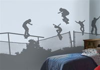 Skate Rail Fence wall decals stickers