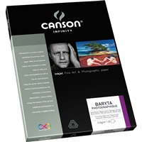 "CANSON INFINITY Baryta Photographique 310gsm 8.5""x11"" - 25 Sheets"