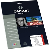 "CANSON INFINITY Discovery Sample Pack 8.5""x11"" 14 Sheets"