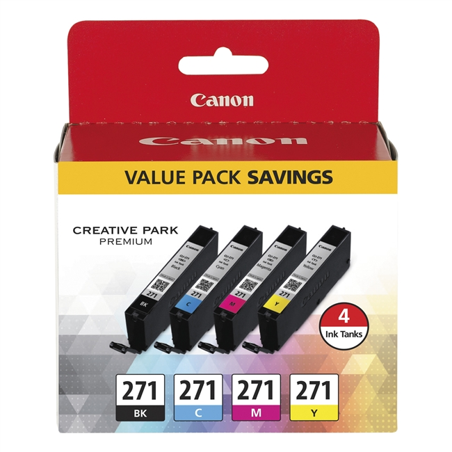 Canon CLI-271 Ink Multi Pack - Black, Cyan, Magenta, Yellow