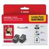 "Canon PG-40 and CL-41 with 4""x6"" Glossy Paper - 50 Sheets"