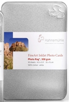 "Hahnemuhle Photo Rag 308gsm Fine Art Photo Cards 4""x6"" 30 Sheets"