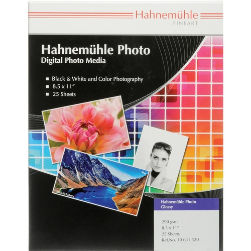 "Hahnemuehle Photo Glossy 290gsm 8.5""x11"" - 25 Sheets"