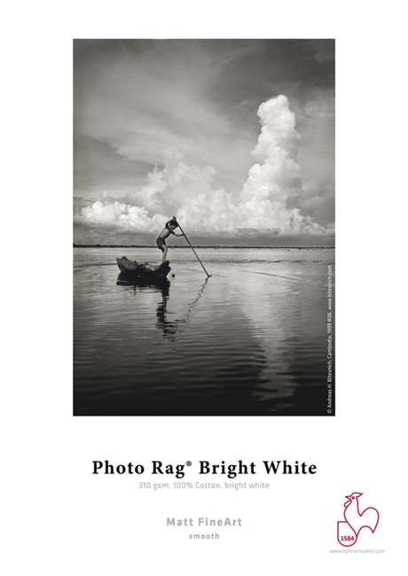 "HAHNEMUHLE Photo Rag Bright White 310gsm 36""x39ft Roll (3"" core)"