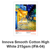 "Innova Smooth 100% Cotton High White 215gsm  60""x49.2ft Roll - (ships from IL warehouse)"