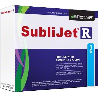 SubliJet-R Cyan Ink for Ricoh GX e7700N