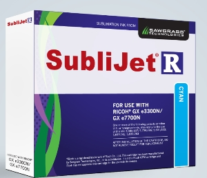 SubliJet-R Cyan ink for Ricoh GX e3300 / GX e7700DN