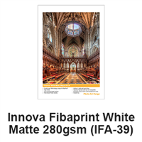 "Innova FibaPrint White Matte 280gsm 11""x17"" -10 Sheets (ships from IL warehouse)"