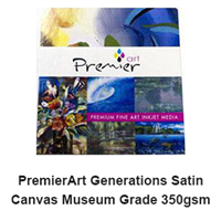 "PremierArt Generations Satin Canvas Museum Grade 17""x22"" -10 Sheets"