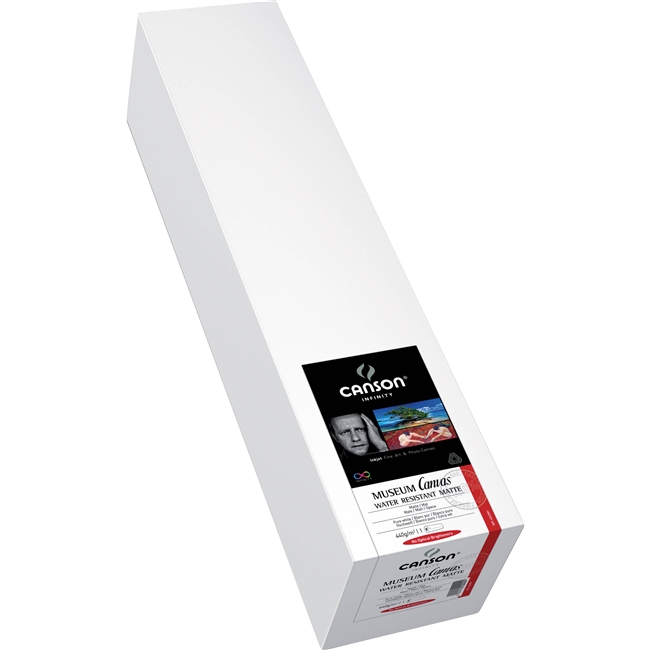 "Canson Museum Art Canvas 340gsm 24""x10' roll"