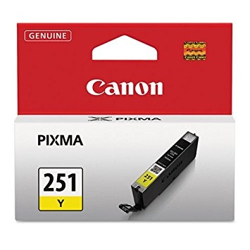 Canon CLI-251GY Yellow Ink Cartridge for Canon MG6320
