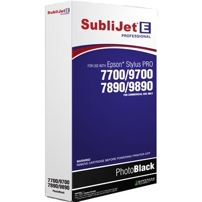 SubliJet-E Photo Black Ink for Epson 77/9700, 78/9890
