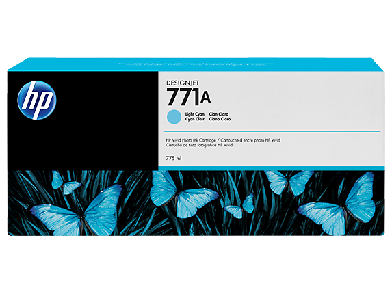 HP 771 775-ml Ink Cartridge - Lt Cyan