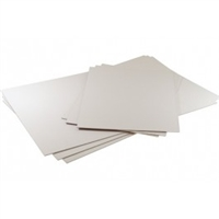 "Clear Bags Acid Free White Backing Board 8.5""x11"" 25 Pack"
