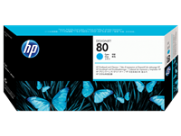 HP No. 80 Cyan printhead and printhead cleaner (HP C4821A)