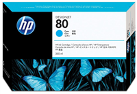 HP No. 80 Cyan Ink Cartridge (HP C4846A), 350 ml