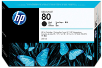 HP No. 80 Black Ink Cartridge (HP C4871A), 350 ml