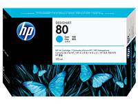 HP No. 80 Cyan Ink Cartridge (HP C4872A), 175 ml