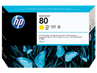 HP No. 80 Yelow Ink Cartridge (HP C4873A), 175 ml
