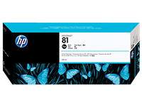 HP #81 Black Ink Cartridge Dye