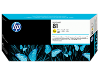 HP No. 81 Yellow Printhead and Cleaner C4953A