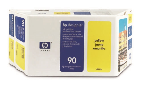 HP #90 YELLOW 3-ink multipack for DesignJet 4000