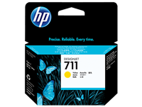 HP 711 Yellow 29-ml ink cartridge for T120, T520