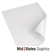 Mid-States Gloss Vinyl with Permanent Adhesive Gray Backer / ES 30in x 15ft Test Roll